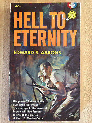 Edward Aarons HELL TO ETERNITY 1960 Great Cover Art L@@K WOW!!!