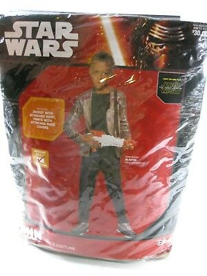 Disney Star Wars Finn Boys Youth Sz Medium 8/10 Age 5-7 Child Halloween Costume