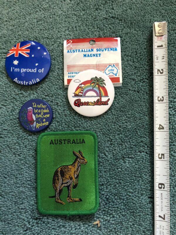 Miscellaneous Australian Items Patch Button Pin Magnet Etc