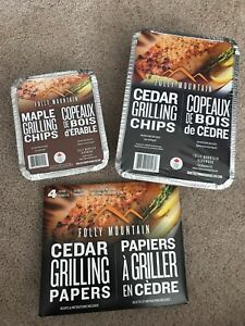maple and cedar grilling chips, cedar grilling papers