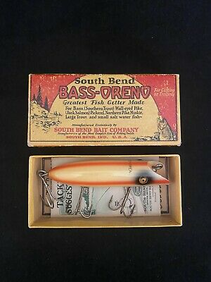SOUTH BEND #973 BASS ORENO WITH BOX AND CATALOG TOUGH COLOR