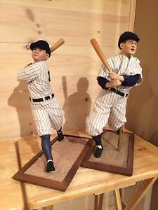 New York Yankees Babe Ruth and Lou Gehrig figures, dolls