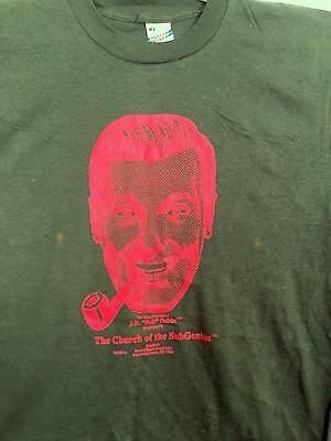 Original Vintage 1982 Strange SubGenius Church BOB DOBBS T-Shirt Sizes M&S / NOS
