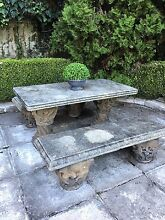 Old sandstone vintage outdoor setting table bench seat Hunters Hill Hunters Hill Area Preview
