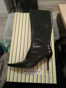 USED ONCE- Zoe Wittner Leather Boots (Size 41) Girrawheen Wanneroo Area Preview