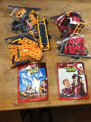 Mixed Trio Sets Fisher Price Incomplete Over 180 Pieces W/ Instuctions