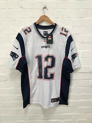 Nike New England Patriots NFL Men's Road Jersey - M - Brady 12 - White - NWD