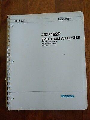 Tektronix Manual 492492p Spectrum Analyzer Vol 1 Woptions B0300000 Up