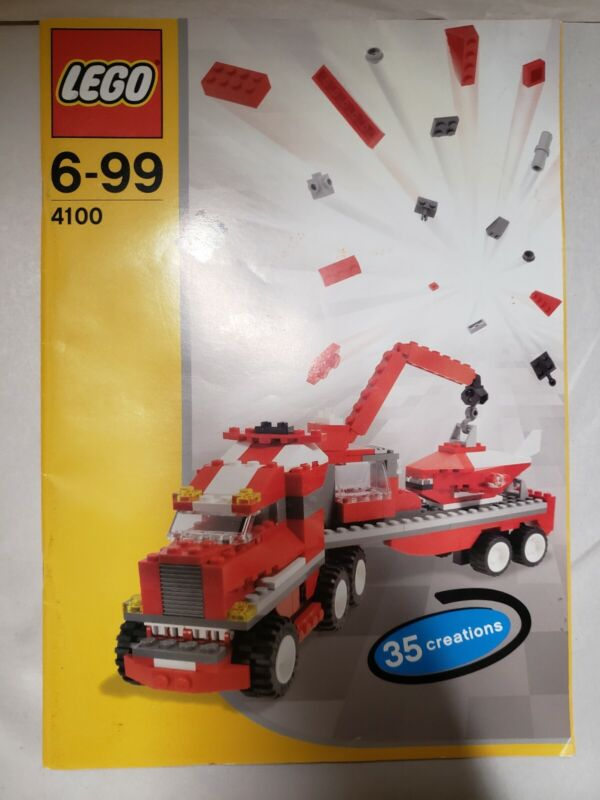 Lego 35 Creations Truck Instructions, Book 6-99 4100