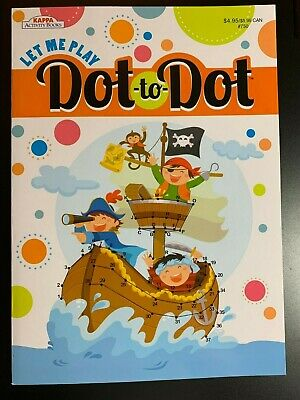 KAPPA DOT TO DOT ACTIVITY BOOK FOR KIDS LET ME PLAY NEW FUN! GAMES PIRATE COVER - Dot To Dot Game