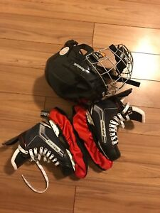 Helmet and skates for kids