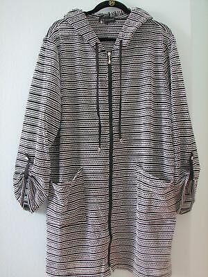 NWT Club Z Hooded Plus Size Beach Dress Zippered Swim Cover (Hood Swimming)
