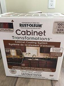 Rustoleum dark chocolate cabinet transformation kit