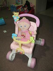 Baby walker musical pram with doll fisher price  8+ months baby Westmead Parramatta Area Preview