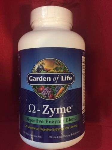 Garden Of Life Q-Zyme Digestive Enzyme Blend 180 Vegetarian Capsules NEW