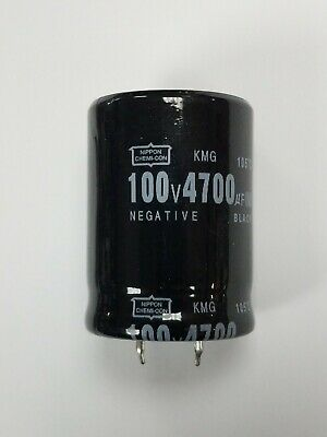 2 Pcs 4700uf 4700mfd 100v Electrolytic Capacitor 105c Usa Free Ship 4700uf
