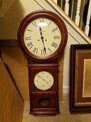 Howard Miller 620-249 Lawyer II - Key-Wound Chiming Wall Clock