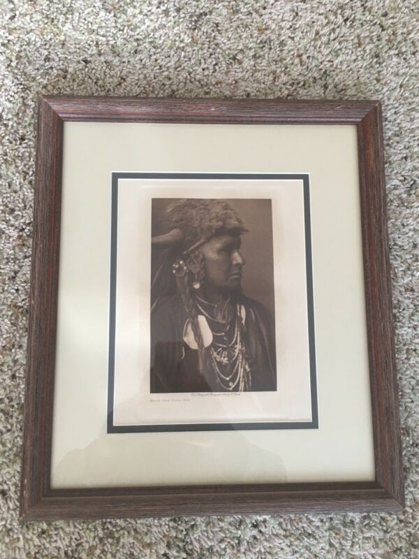 1908 Original Photogravure |White Man Runs Him| Edward Curtis |Very Rare!