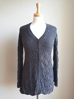 (Style&co. Women's Three Button Long Sleeve Cardigan, Deep Black (Size PL) #455)