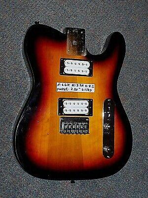 Fender Spec Sunburst Telecaster HH Loaded Body Gotoh Humbuckers