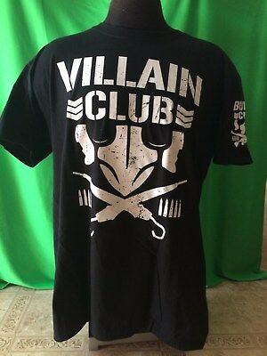 MARTY SCURLL Villain Club New Japan Pro Wrestling Bullet Club Shirt MEDIUM