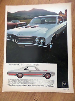 1967 Buick GS-340 GS-400 Ad