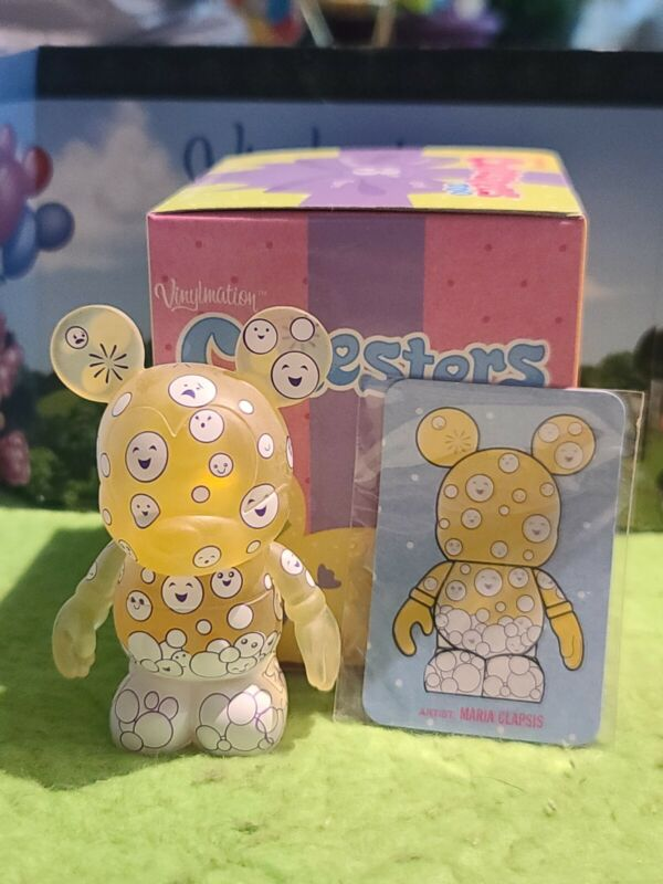 """DISNEY Vinylmation 3"""" Park Set 2 Cutesters Too with Box and Card Bubbles"""