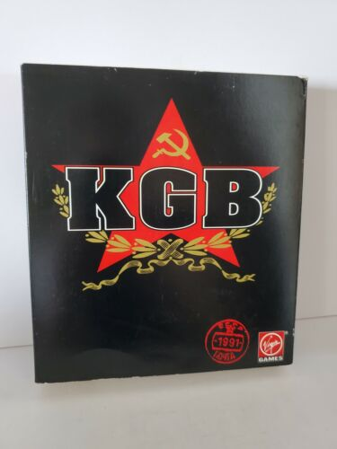Computer Games - KGB IBM PC 1992 Virgin Games COMPUTER GAME