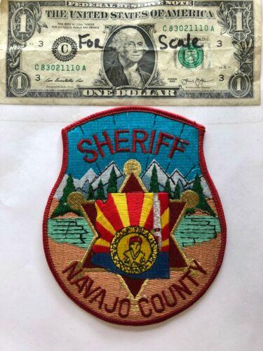 Rare Navajo County Sheriff Arizona Police Patch Un-sewn mint (RARE LOOM STYLE)