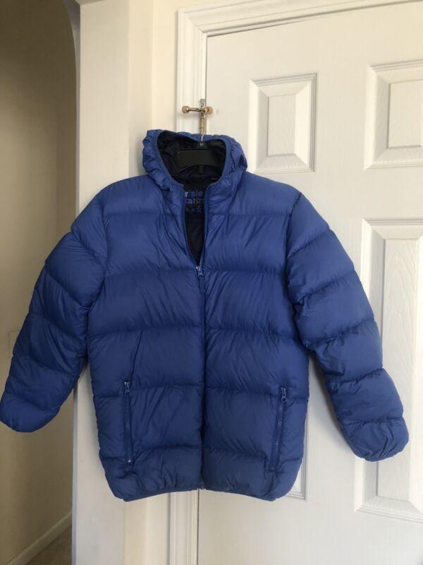TRIPLE STAR 100% Nylon Boy's Hooded Blue Puffer Jacket Coat Youth size L EUC