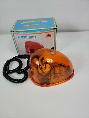 Vintage Revolving Emergency Yellow Light 12vdc Signal Safety
