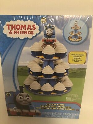 Thomas The Train Cupcake Stand Holds Wilton Party Decoration Kids Birthday Treat