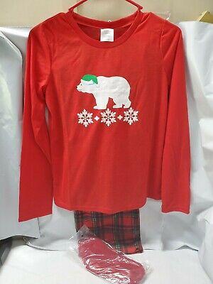 Mad Dog Concepts NWT Girls Polar Bear Christmas Flannel Pajamas XL 14/16 $36 New Mad Dog