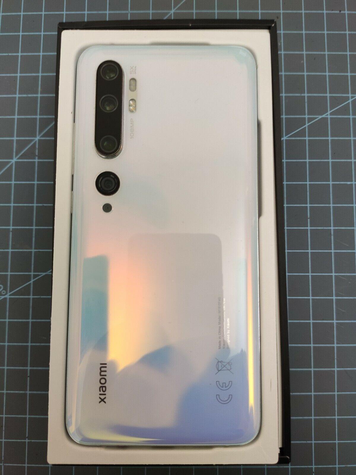 Xiaomi Mi Note 10 128GB Glacier White Unlocked Smartphone, Very Lightly Used - $260.00