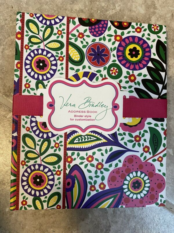 NEW Vera Bradley Address Book Sealed Binder Viva La Vera New in Packaging