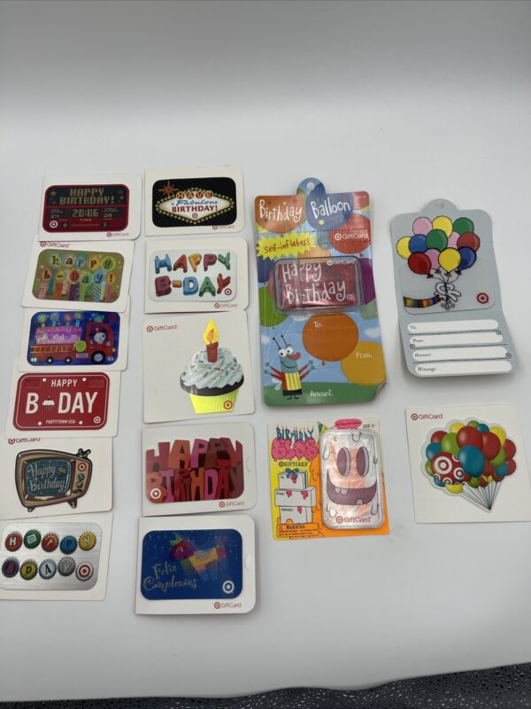 Target Gift Card LOT of 15  No Value Birthday Theme