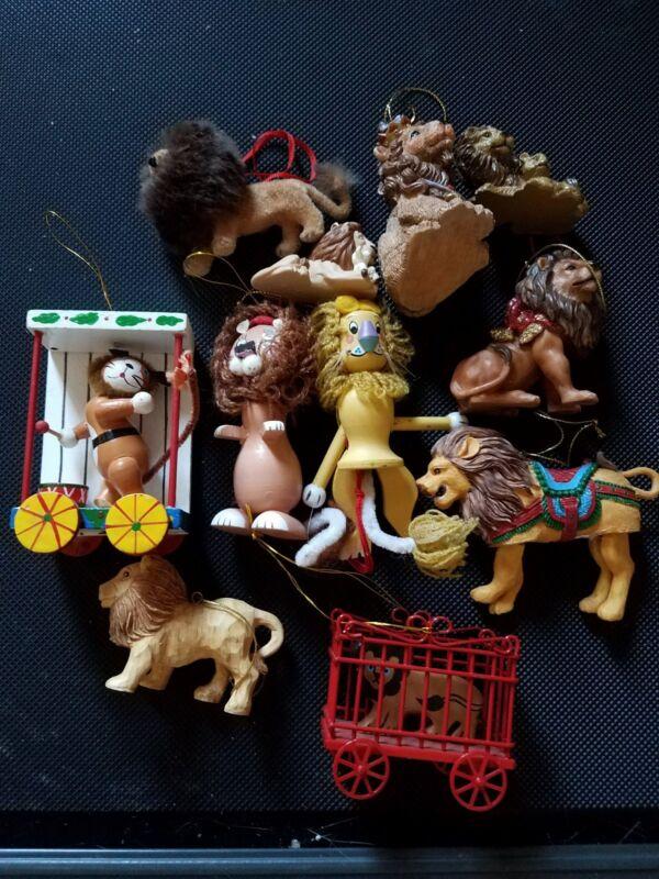 11 Lion Christmas Ornaments