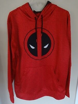 EUC - Marvel Deadpool - Premium Sewn Long Sleeve Hoodie SweatShirt Men Large