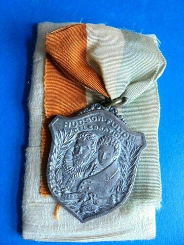 Vintage 1909 Hudson Fulton Celebration New York To Albany Souvenir Medal