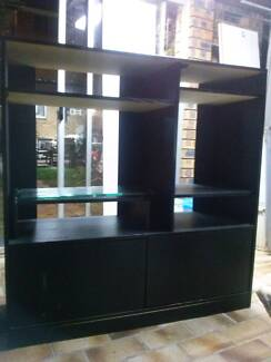 Black Tall TV Unit Burwood Heights Burwood Area Preview