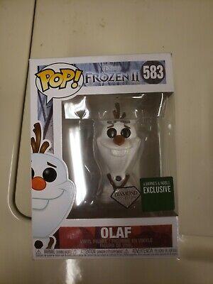 OLAF (DIAMOND) #583 Disney Frozen 2 Funko Pop! BARNES & NOBLE EXCLUSIVE