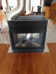 Napoleon double sided propane  fireplace