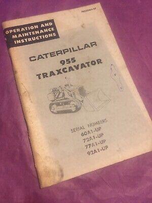 Cat Caterpillar 955 Operation Maintenance Manual Traxcavator 60a 72a 77a 92a