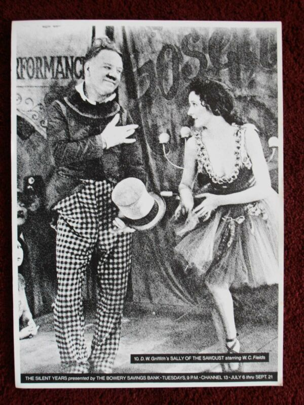 SALLY OF THE SAWDUST 1975 Promo W.C. Fields Carol Dempster Poster