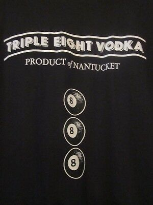 NWOT - TRIPLE EIGHT VODKA Billiard Ball Logo Black Adult XL Long Sleeve Tee for sale  Charleston