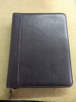 Franklin Quest Covey Burgundy Leather Trim Classic Planner 7-ring