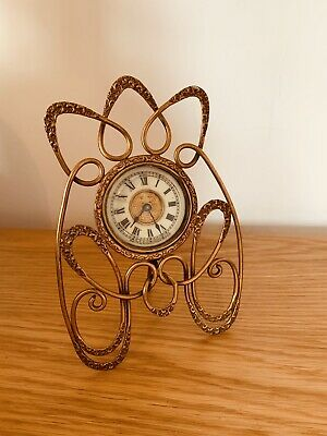 Antique Beautiful Ansonia Art Nouveau Clock- Carriage - Mantle Clock