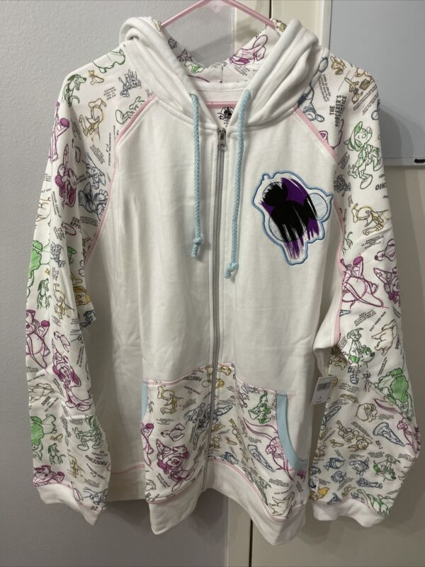 NWT Disney Parks Ink And Paint adult Jacket Hoodie size 3XL