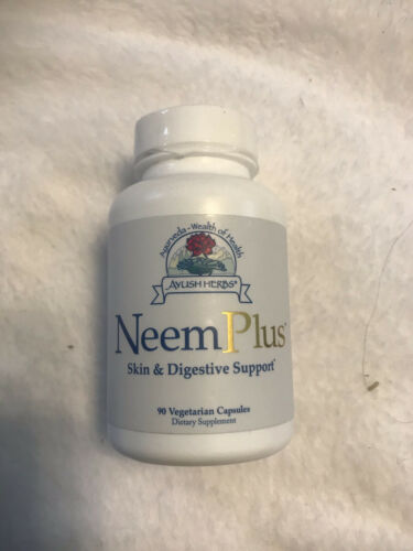 Ayush Herbs Neem Plus Skin, Digestive, Immune-System Dietary Supplement Exp 3/23 - $44.50