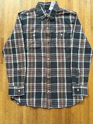 (NWT GAP Kids boys long sleeve flannel button down shirt top XXL 14-16 NEW )